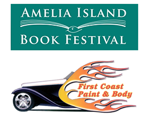 Amelia Island Book Festival and First Coast Paint and Body Logos
